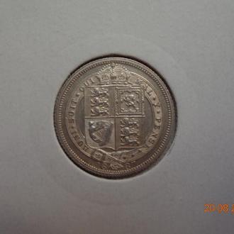 Великобритания 6 пенсов 1887 Victoria серебро СУПЕР состояние редкая