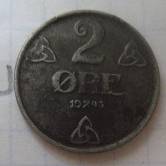 НОРВЕГИЯ, 2 эре 1943 года.