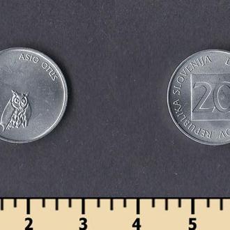 СЛОВЕНИЯ 20 СТОТИНОВ 1992-1993