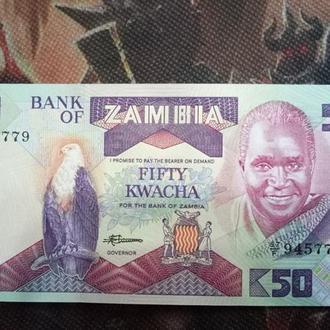 Замбия 50 квача 1986 UNC
