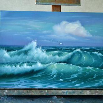 Лазурные волны 35х50
