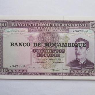 Мозамбик  Португальский  500  эскудо  1967  год