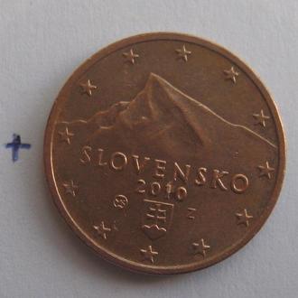 СЛОВАКИЯ, 2 евроцента 2010 года.
