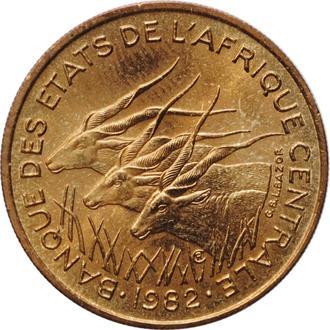 "Центральная Африка (BEAC) 25 франков 1982 г., BU, ""Франк КФА BEAC (1973 - 2019)"""