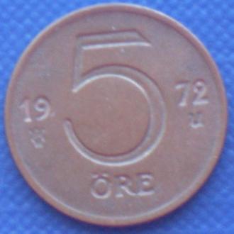 Швеция 5 эре 1972 Монеты мира