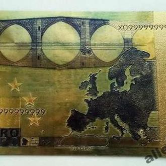 Золотая банкнота 50 Евро