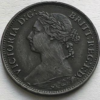 Англия фартинг 1891 год Виктория ОТЛИЧНЫЙ СОХРАН!!!