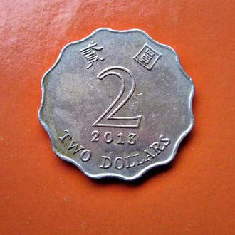 ГОНКОНГ 2 доллара 2013 года - обиходная монета