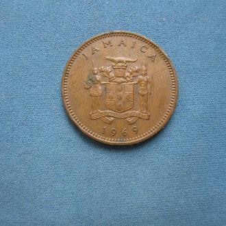 Ямайка 1 цент 1969 год