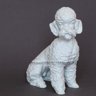 Фарфоровая статуэтка Белый пудель Kaiser Германия