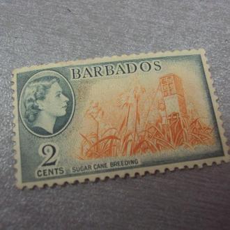 марка Барбадос 1953 королева культура №267