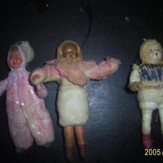 Ватные елочные игрушки 30-40 годов