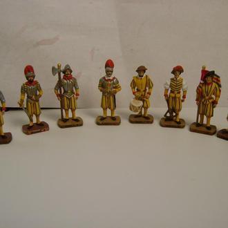 фигурки швейцарских гвардейцев 35мм