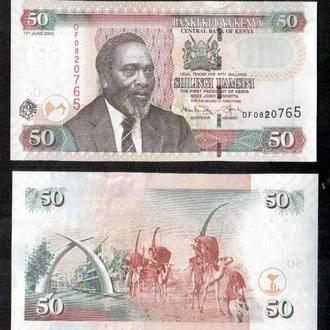 Кения/Kenya 50 Shillings 2009 Pick 47d UNC _ лот № Африка