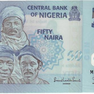 Нигерия 50 найра 2011 UNC пластик