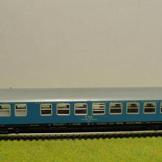 (1362) пассажирский вагон в масштабе TT (1:120)