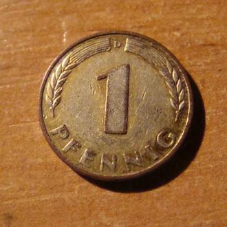 ФРГ Германия 1 пфенниг 1950  D