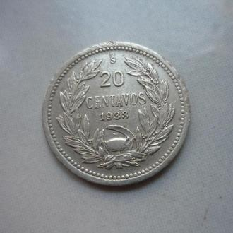 Чили 20 сентаво 1938 фауна