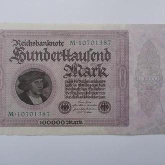 100000 марок 1923г. германия