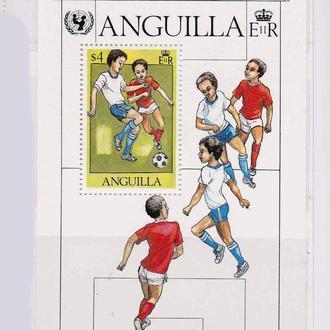 Футбол. Спорт . Ангилья  1981 г MNH -
