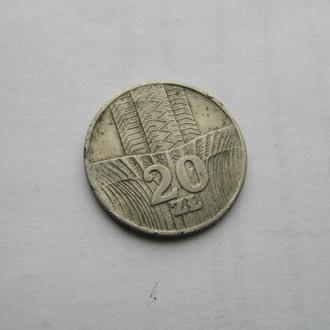 20 злотых Польша 1976 год