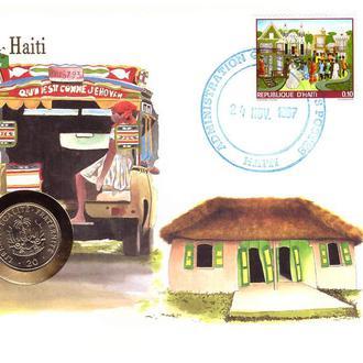 Гаити 1987 Г - ХМК - КПД СГ - ООН - С МОНЕТОЙ