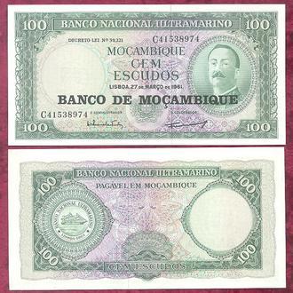 Боны Африка Мозамбик 100 эскудо 1961 г.