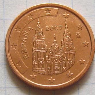 Испания_ 2 евро цента 2007 года  оригинал