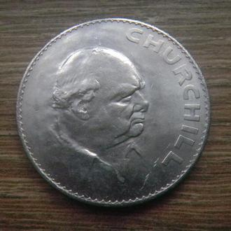 "Великобритания 1 крона (crown) 1965 ""Cэр Уинстон Черчилль"" (Gr3)"