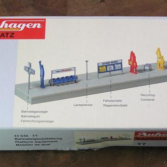 Auhagen 43 646 Набор для оборудования платформы 1:120/TT