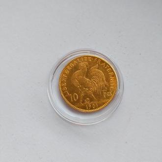 10 франков 1901 Золото 3,24 г.  Сохран! Редкий год! Оригинал!