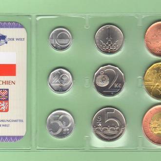 Набор монет ЧЕХИЯ блистер запайка набір ЧЕХІЯ пластик из серии DAS GELD DER WELT