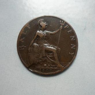 Великобритания 1/2 пенни 1900