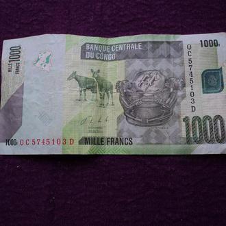 Конго 2013г. 1000 франков.