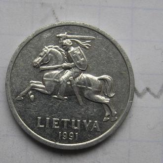 ЛИТВА, 1 цент 1991 года.
