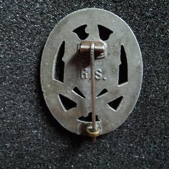 Знак «За атаку», в серебре,цинк, клеймо R.S. Rudolf Souval, Wien