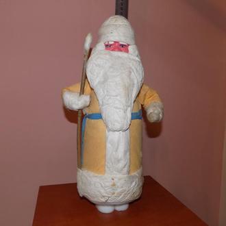 Елочная игрушка СССР Дед Мороз вата бумага 38.5 см