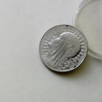 Польша 5 злотих 1934 год серебро СОХРАН