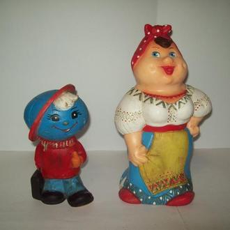 Игрушка кукла резиновая Солоха Спутник про-во СССР