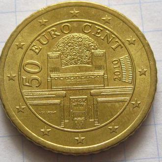 Австрия_ 50 евро центов 2010 года оригинал