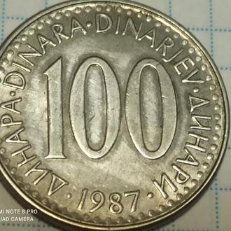 ЮГОСЛАВИЯ, 100 динар 1987