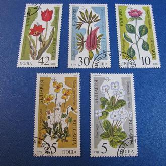Флора Квіти Цветы Болгарія Болгария 1989