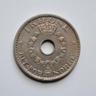 Норвегия 1 крона 1926 г., XF, 'Король Хокон VII (1906 - 1957)'