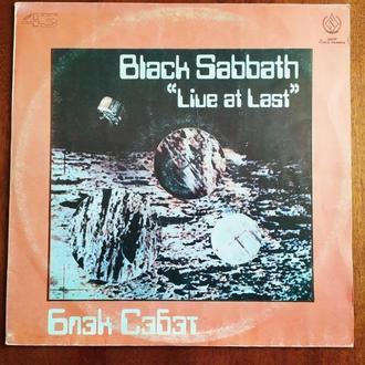LP Black Sabbath Live At Last