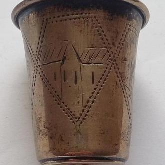 Иудаика кидуш стопка серебро 84 пробы  14,29 грм