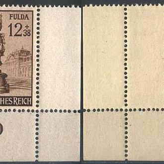 1944 - Рейх - Город Фулда Mi.886_ угол **
