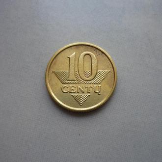 Литва 10 центов 1997