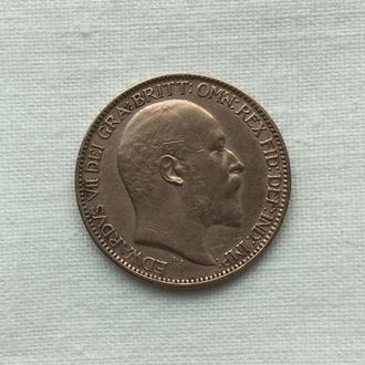 1 фартинг  - 1902 год