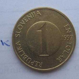 СЛОВЕНИЯ, 1 толар 1997 г. (ЛОСОСЬ).