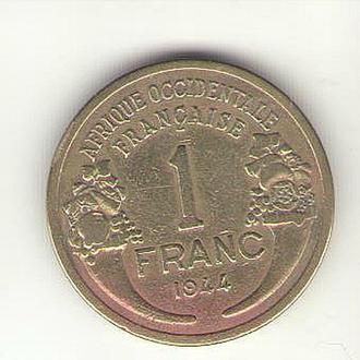Французская Западная Африка, 1 франк 1944 года